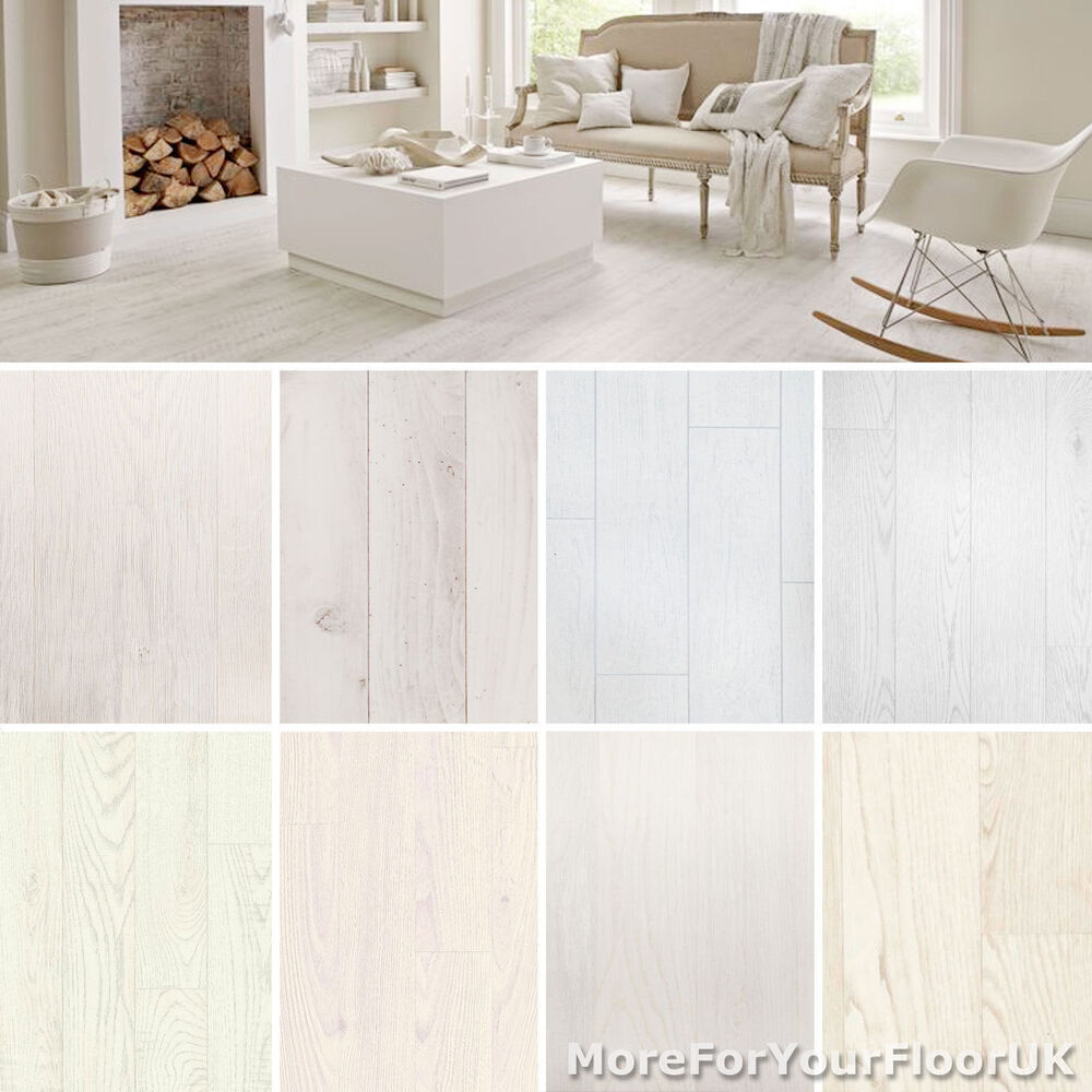 white wood plank vinyl flooring realistic style flooring lino kitchen bathroom ebay. Black Bedroom Furniture Sets. Home Design Ideas