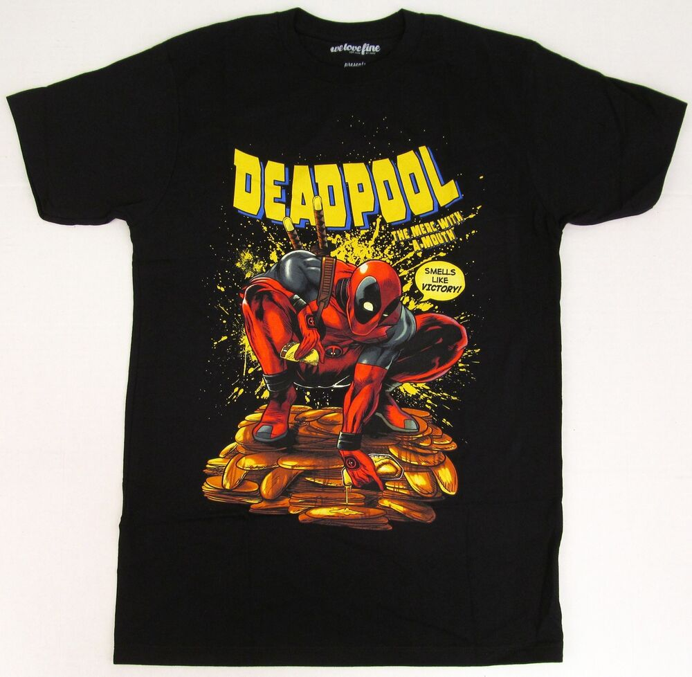 deadpool t shirt marvel comics movie comic book mighty. Black Bedroom Furniture Sets. Home Design Ideas