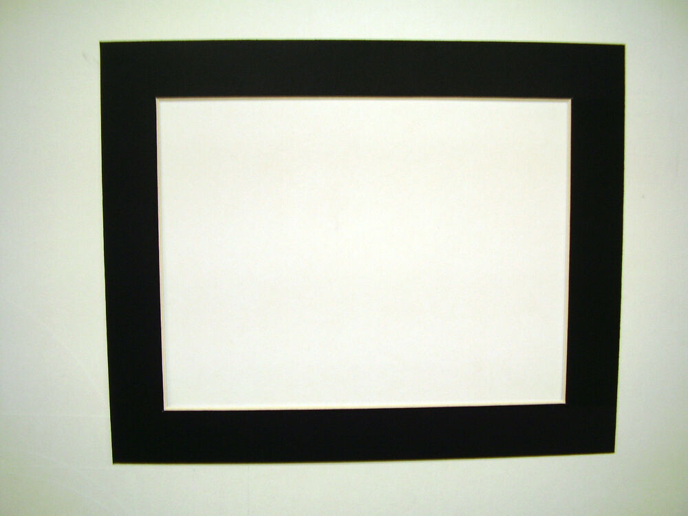 picture framing mats 11x14 for 10x13 photo or painting black ebay. Black Bedroom Furniture Sets. Home Design Ideas