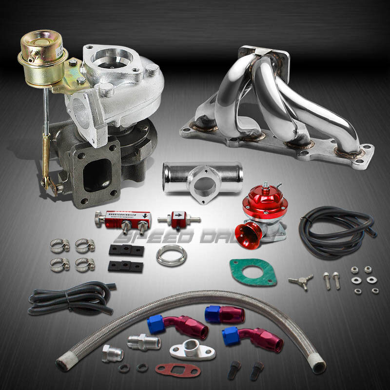 t25 t28 td04 250hp boost 6pc turbo charger manifold kit. Black Bedroom Furniture Sets. Home Design Ideas