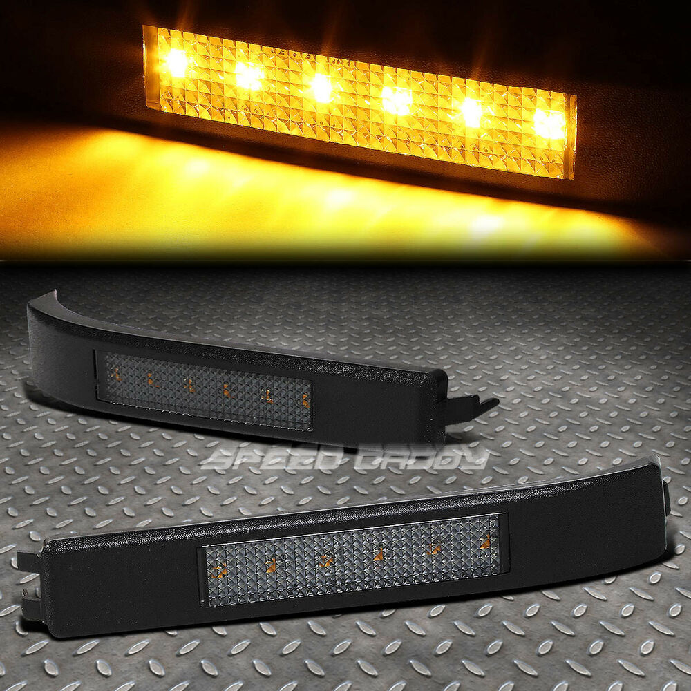 For 09 14 Ford F150 Smoked Amber Smd Led Towing Side