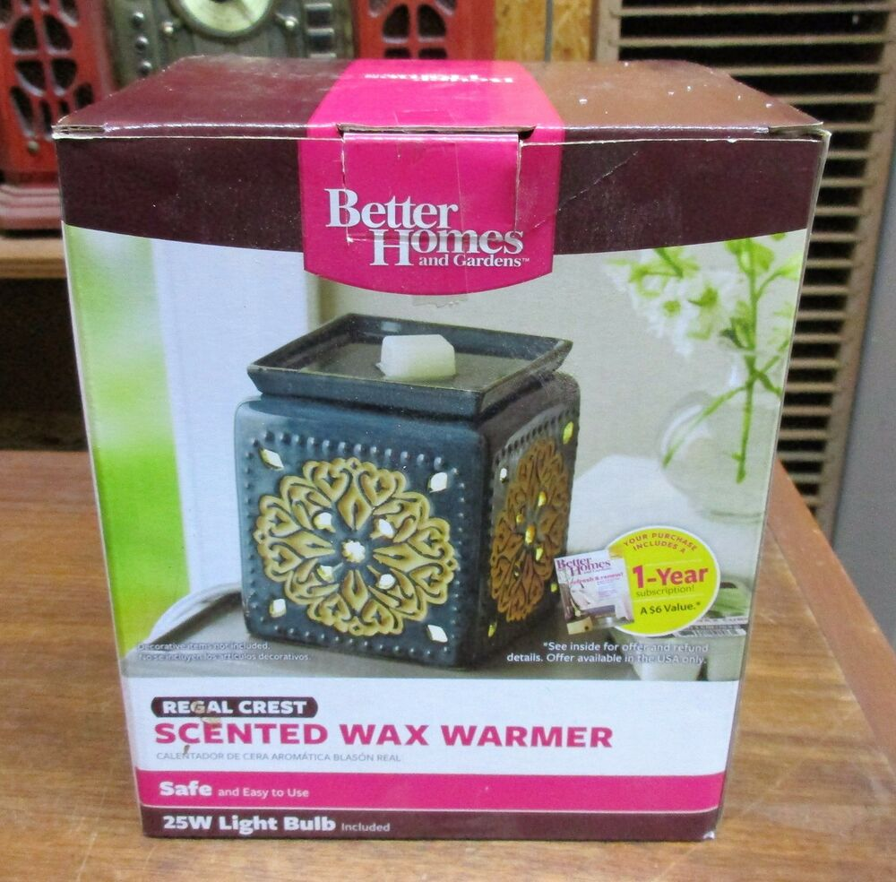better homes & gardens regal crest scented wax warmer unused in