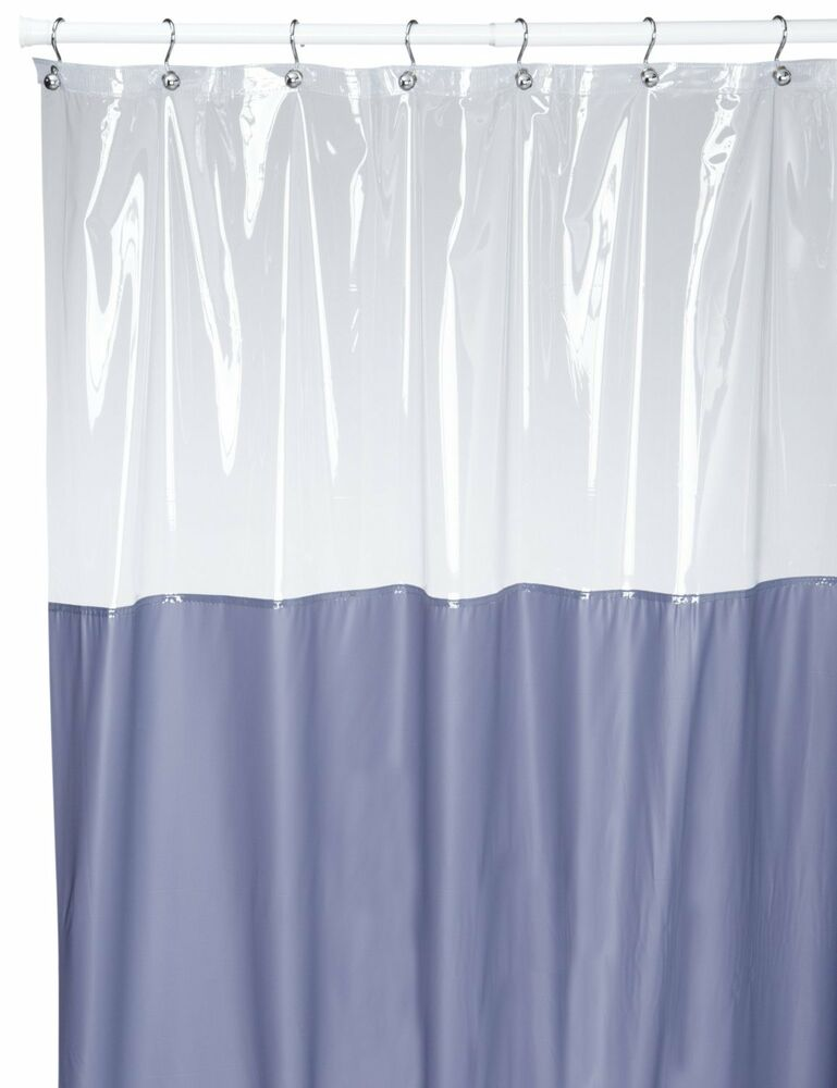 vinyl shower curtain with clear window at the top ebay