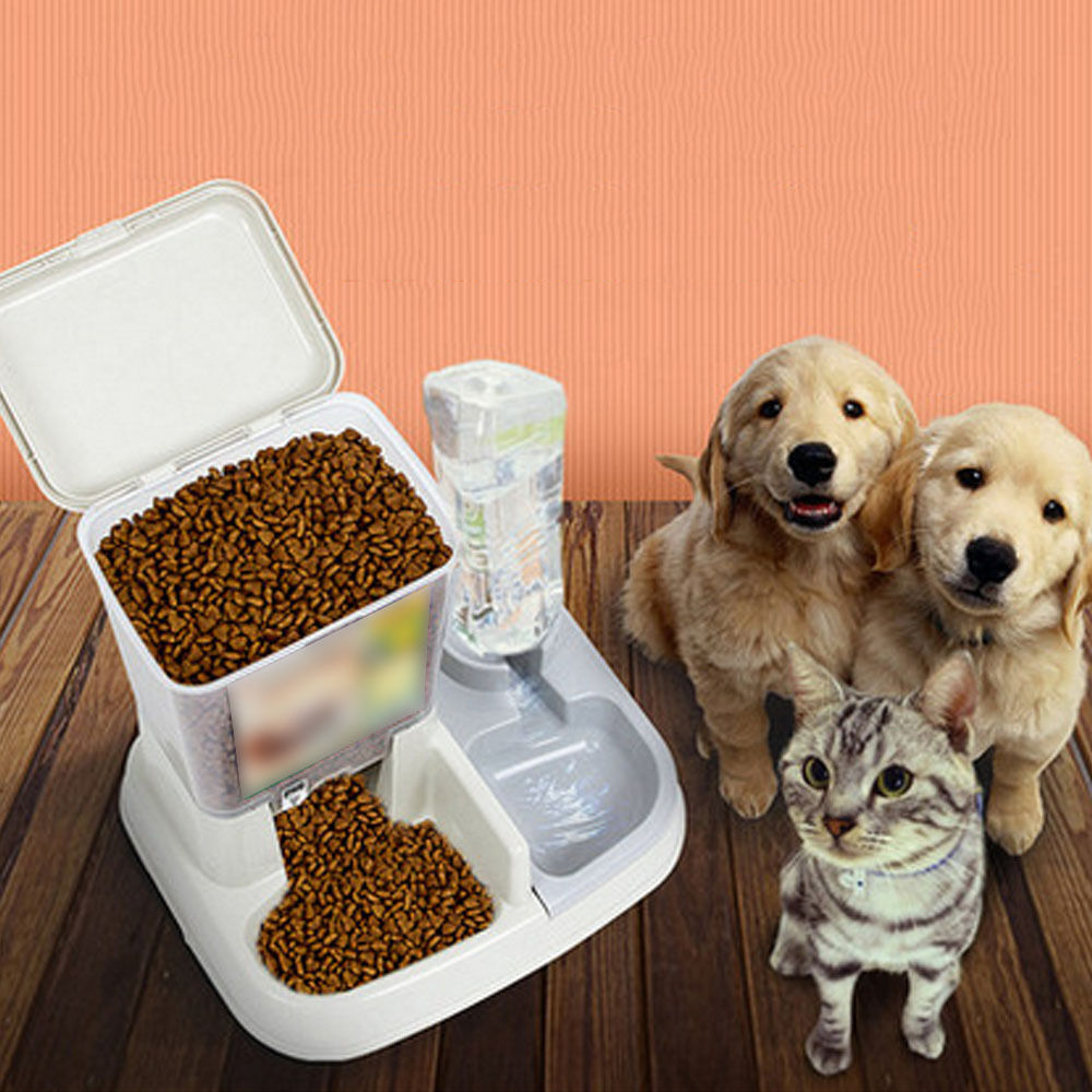 Automatic Pet Feeder Food Water Dispenser Dish Dog Cat