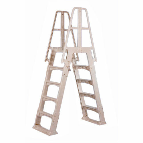 New Large Above Ground Swimming Pool A Frame Ladder Steps