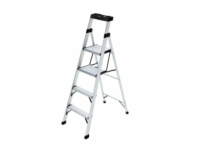 6ft Multi Purpose Step Ladders : Ft folding aluminum step ladder multi purpose lb