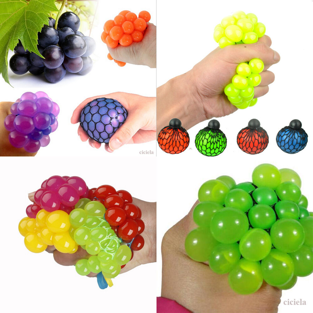Squishy Squeeze Ball : 1Pcs Creative Squishy Mesh Ball Grape Squeeze Abreaction Toy Gag in Sensory Gift eBay