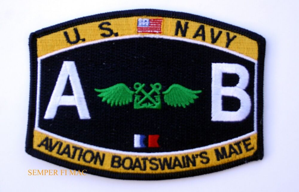 US NAVY Aviation Boatswain's Mate AB RATING HAT PATCH USS ...