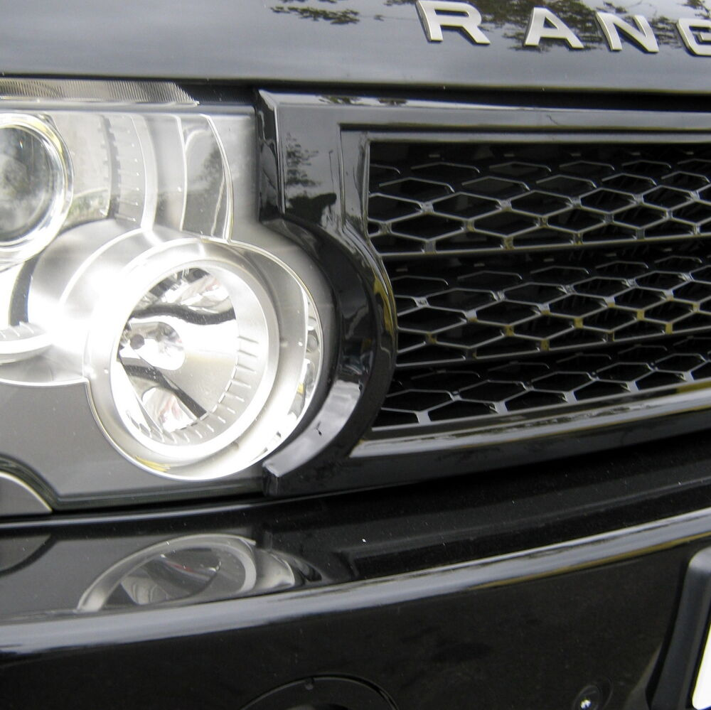 Black SUPERCHARGED Conversion Grille Kit For Range Rover