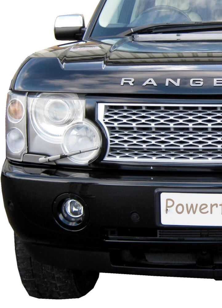 Black Silver Supercharged Grille For Range Rover L322 03