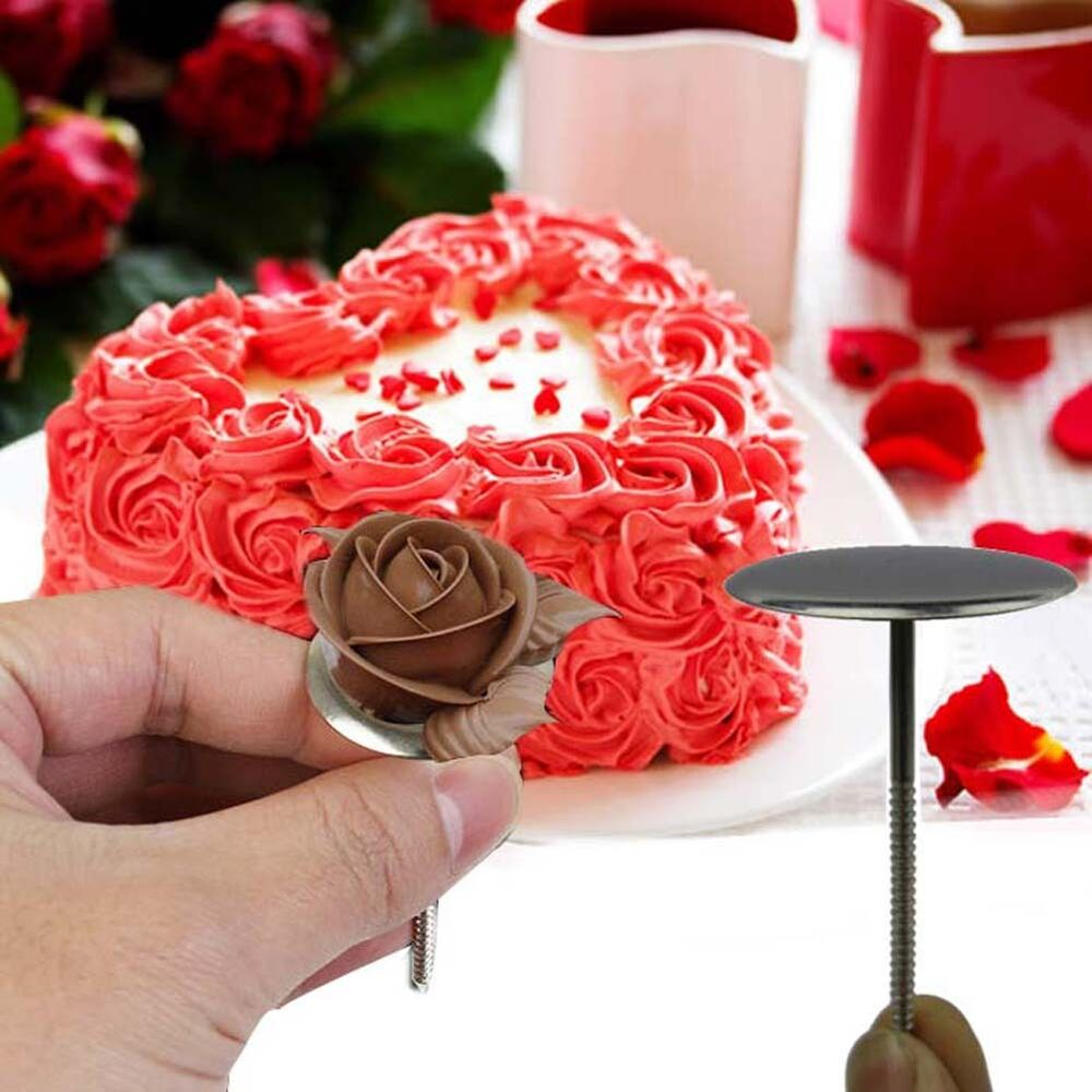 DIY Icing Cream Flower Nail Decorating Tool Cake Cupcake ...