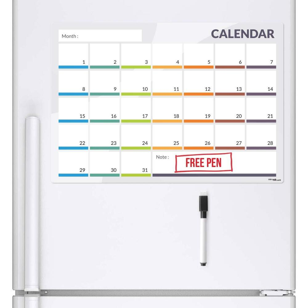 Magnetic Weekly Calendar For Refrigerator : Calender fridge board magnetic pen notice memo planner