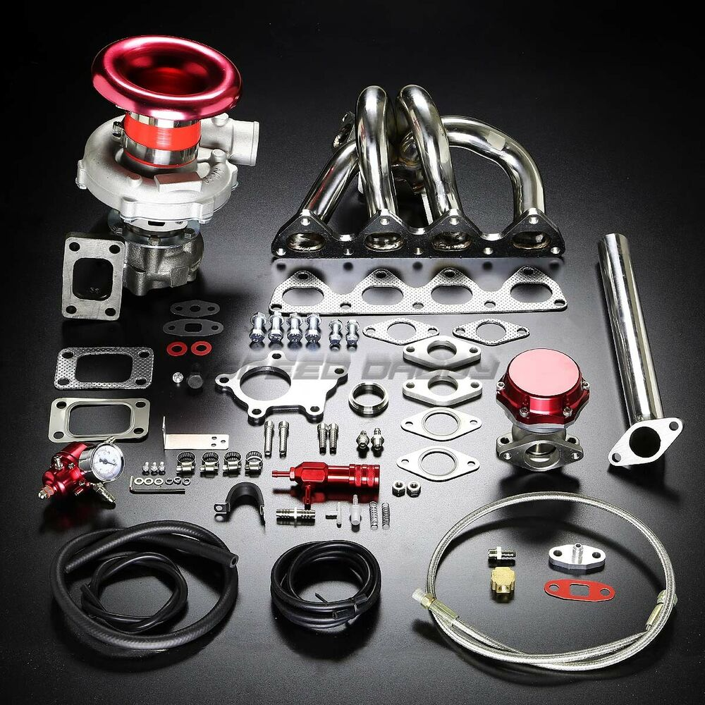Turbo Kit Ge8: H22 T04E STAGE II TURBO CHARGER MANIFOLD UPGRADE KIT FOR
