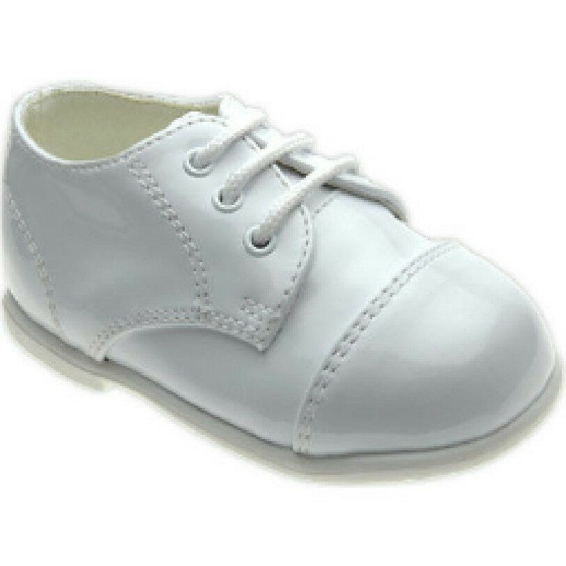 White Leather Christening Shoes
