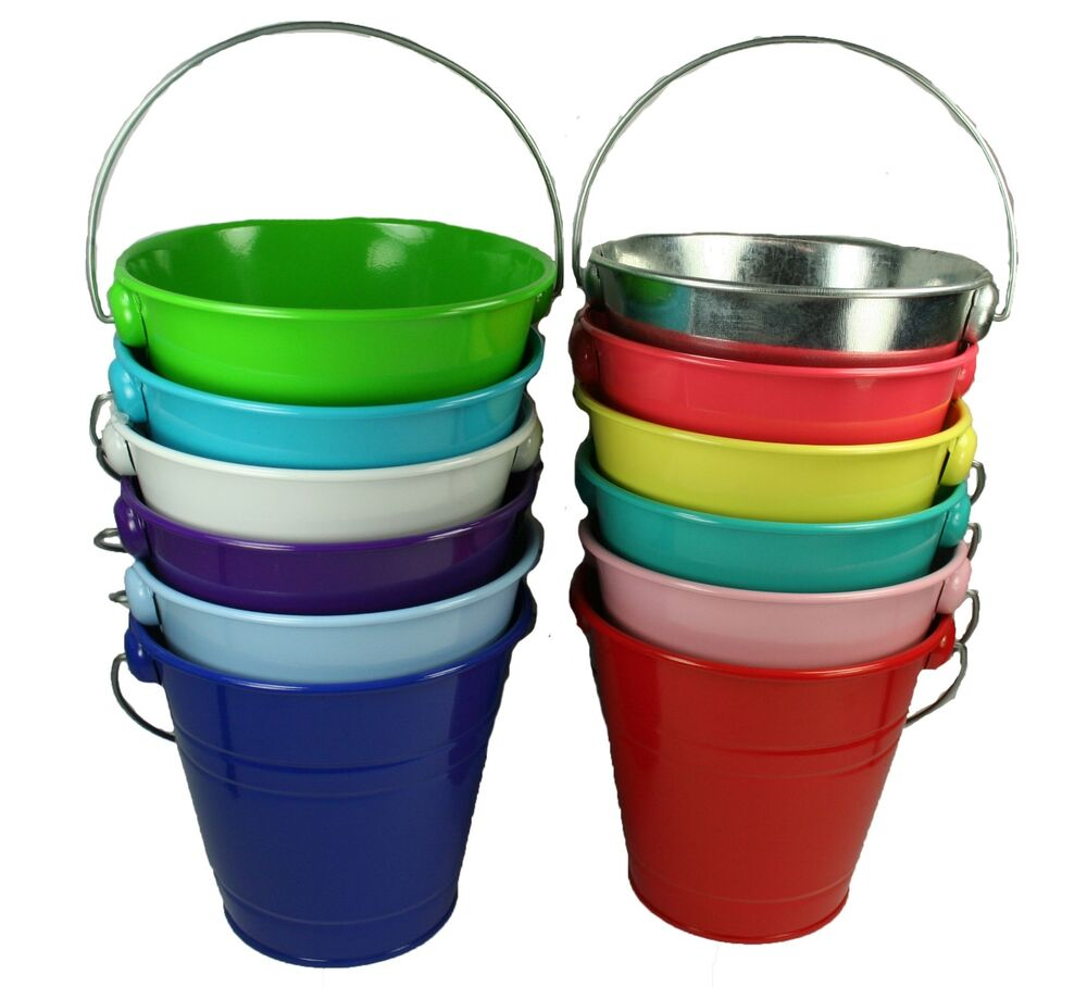 1 metal pail bucket with handle party favor 5 1 2 tall ebay for Small pail buckets