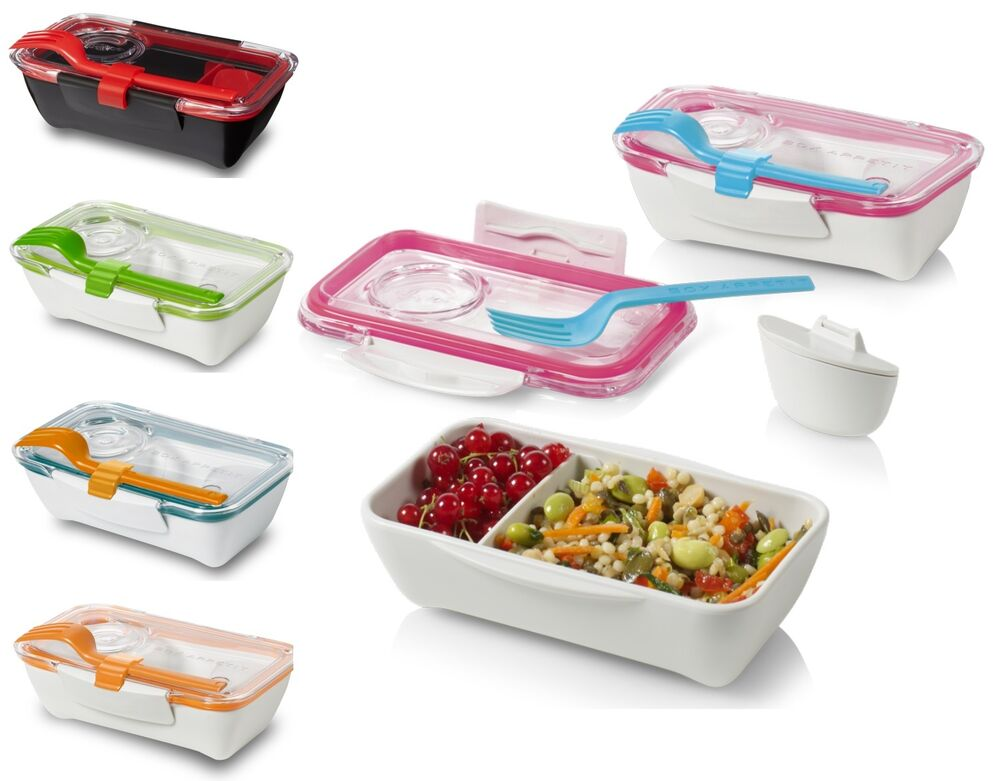 black blum bento lunch box lunchbox lime orange blue pink or black ebay. Black Bedroom Furniture Sets. Home Design Ideas