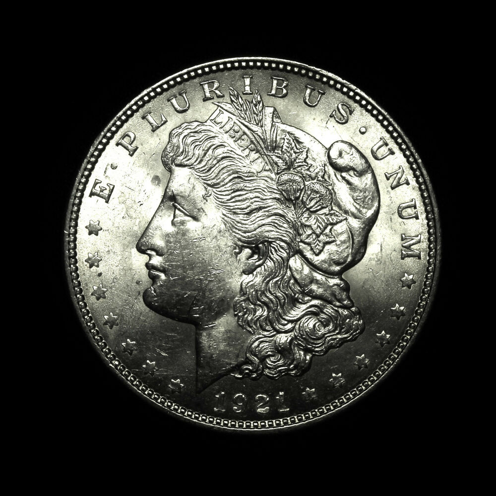 1921 Almost Uncirculated Au Silver Morgan Dollar