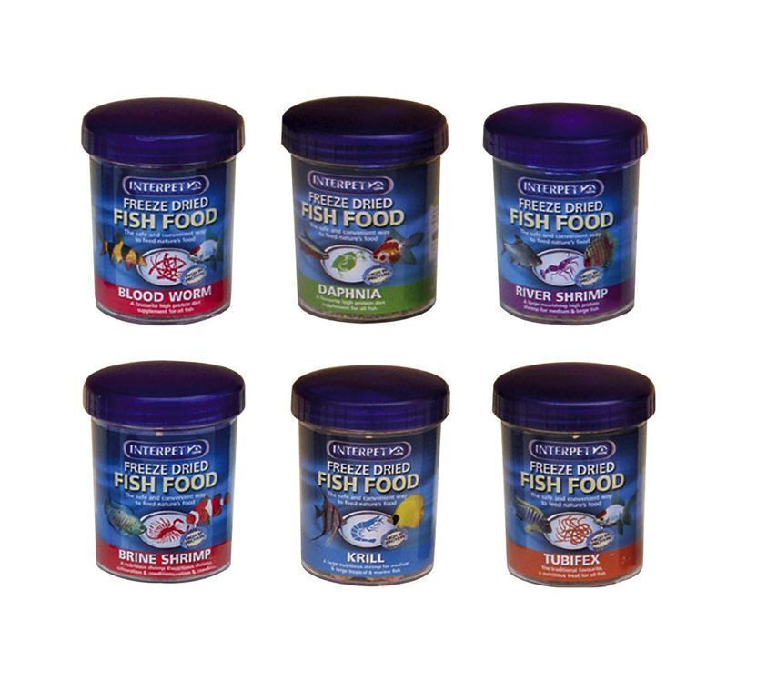 Interpet freeze dried fish food coldwater tropical for How to freeze fish