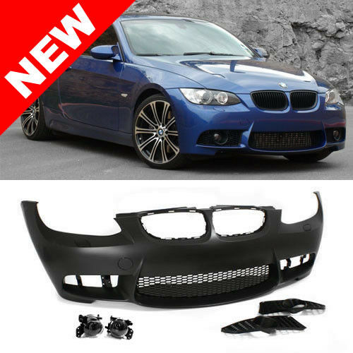 07 10 bmw e92 e93 3 series m3 style non pdc front bumper kit w clear fog lights ebay. Black Bedroom Furniture Sets. Home Design Ideas