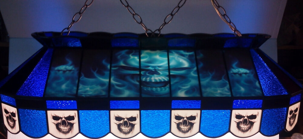 Custom Skull 40 Quot Stained Glass Pool Table Light Hanging