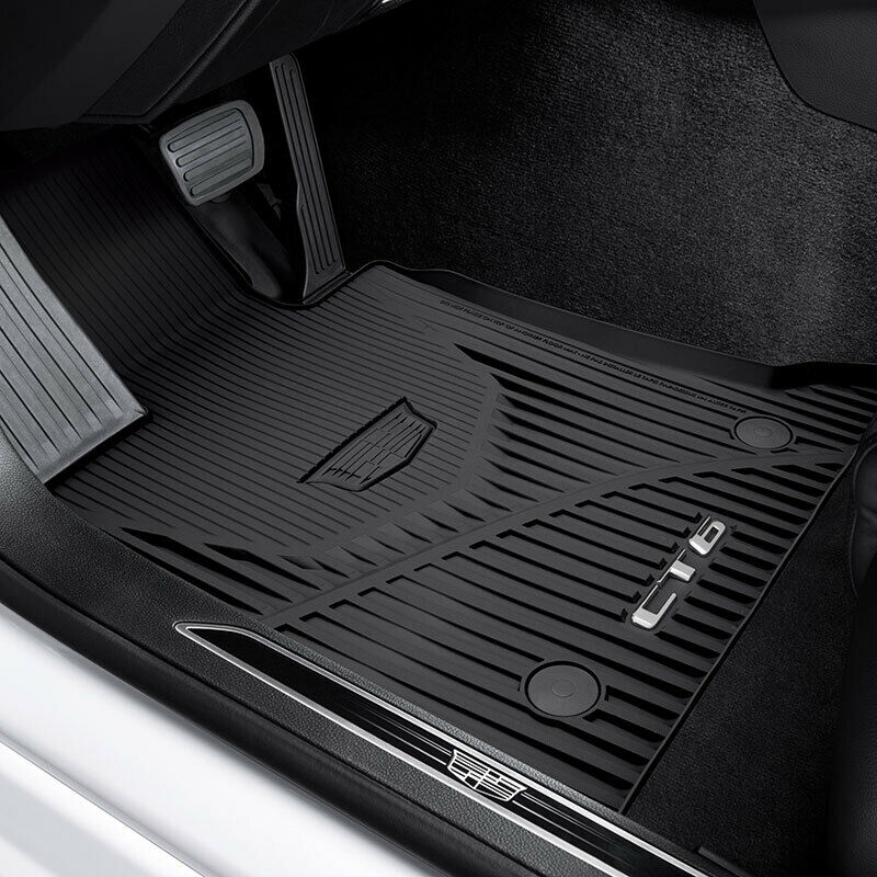 Cadillac Floor Mats All Weather Black Front Amp Rear Ebay