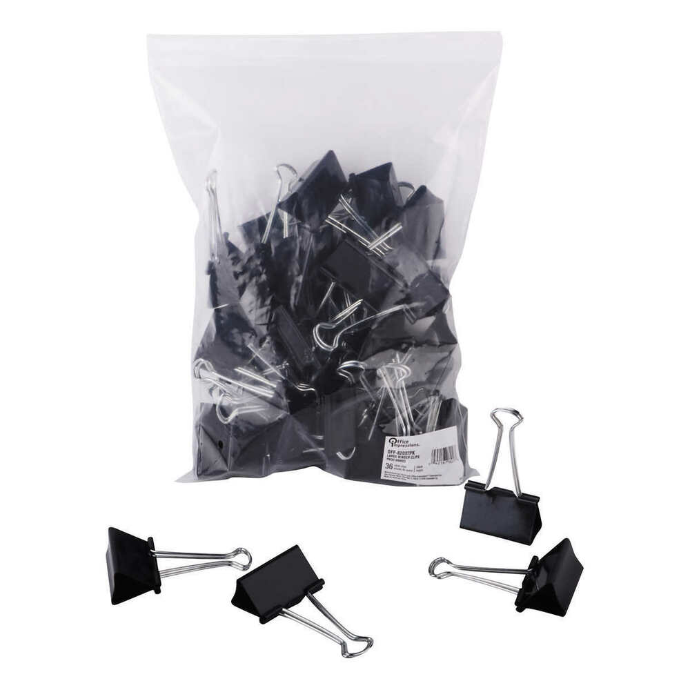 Universal Large Metal Binder Clips 36 Ct Steel Wire 2