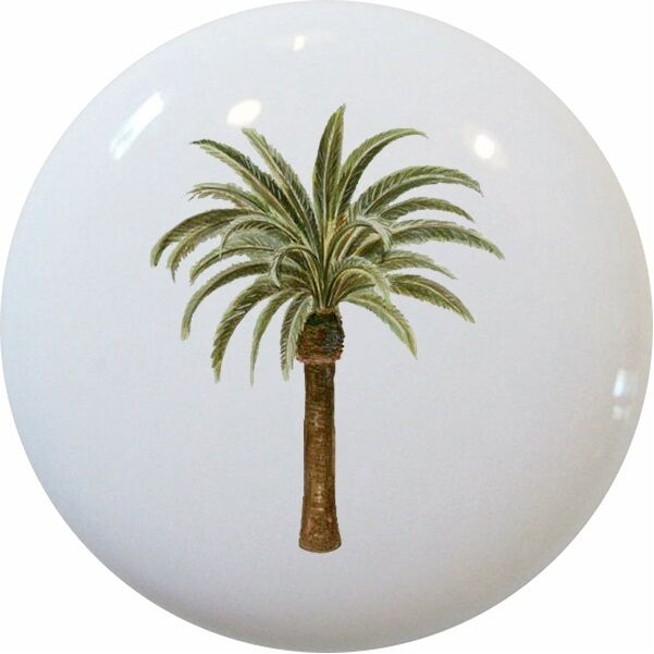 Palm Tree Cabinet Hardware Knob - Finish your tropical decor perfectly with this finely detailed palm tree knob. Combine with other tropical knobs for an eclectic style that's totally tropical.