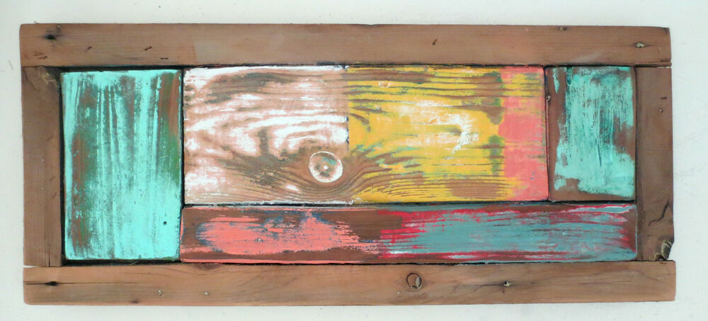 Urban Modern Wall Art Rustic Decor Reclaimed Wood