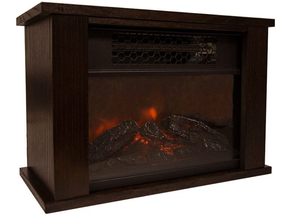 Life pro mini fireplace infrared quartz electric space for Electric radiant heat efficiency