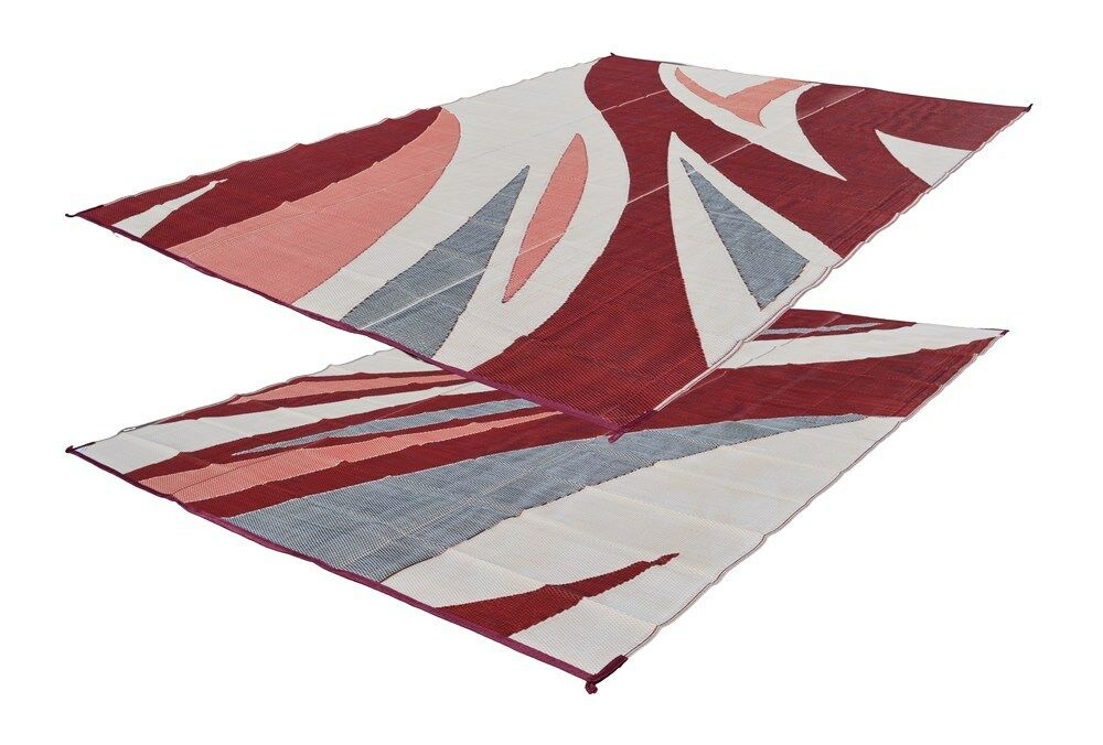 RV Patio Mat Motorhome Awning Mat Outdoor Mat Burgundy