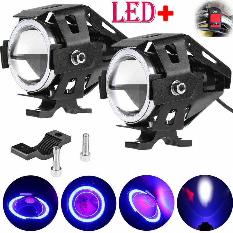 2x 125w Motorbike Motorcycle U7 Led Headlight Driving Fog Spot Light Lamp Ebay