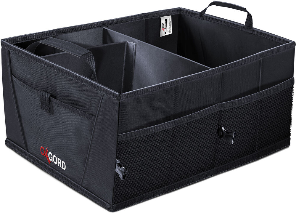 trunk cargo organizer folding caddy storage collapse bag bin for car truck suv ebay. Black Bedroom Furniture Sets. Home Design Ideas