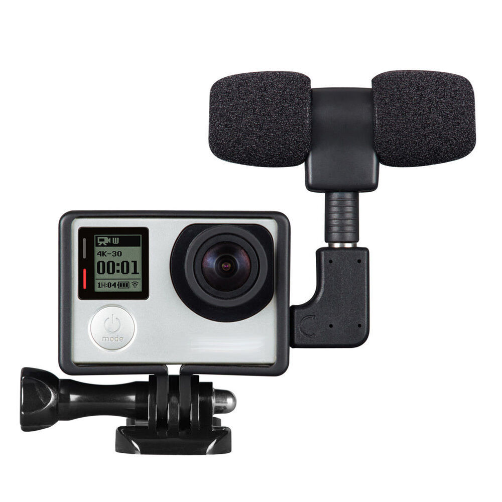 S L on External Microphone Gopro Hero 4