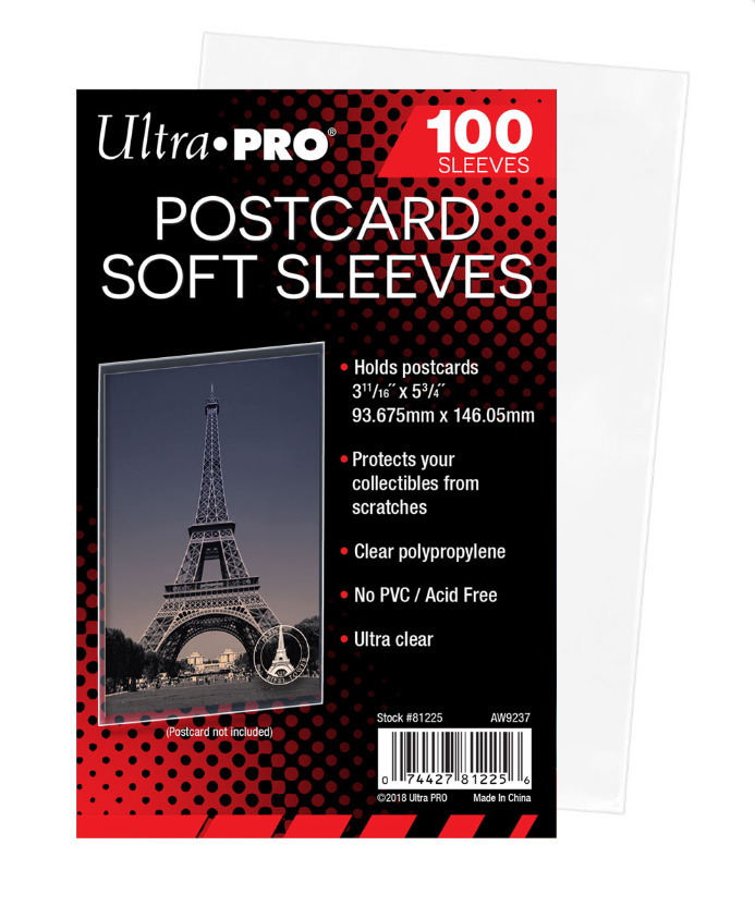 100 Count Ultra Pro Postcard Sleeves Archival Safe 1