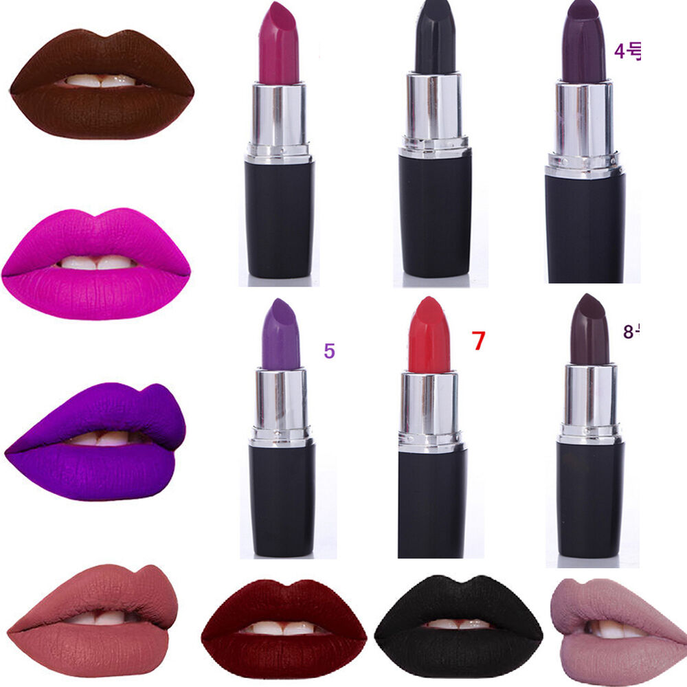 Lipstick Sexy Dark Purple Makeup Waterproof Matte Velvet ...