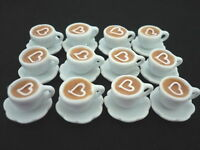 Set of 12 Cups of Cappuccino Herat Dollhouse Miniatures Food Deco