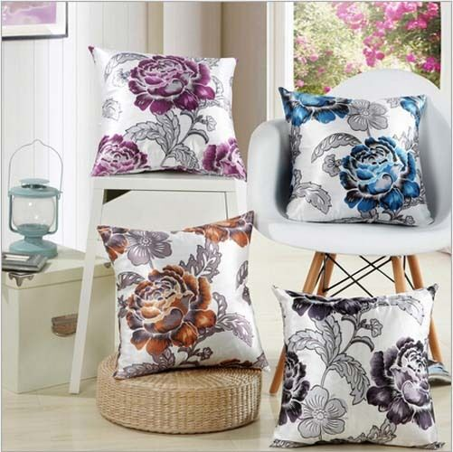 Romantic flower home decor decorative pillows cover cushion cover 18 x 18 ebay - Enhance your home decor with fancy cushions ...