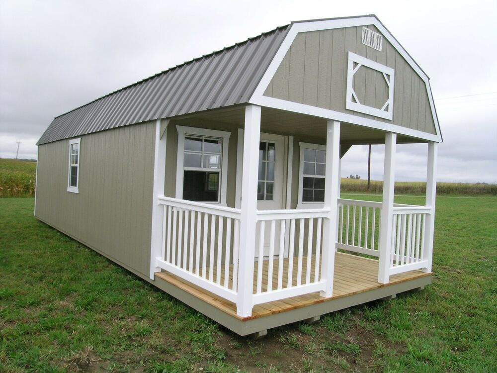 Amish built portable garage shed cabin barn tiny house no for Sheds as houses