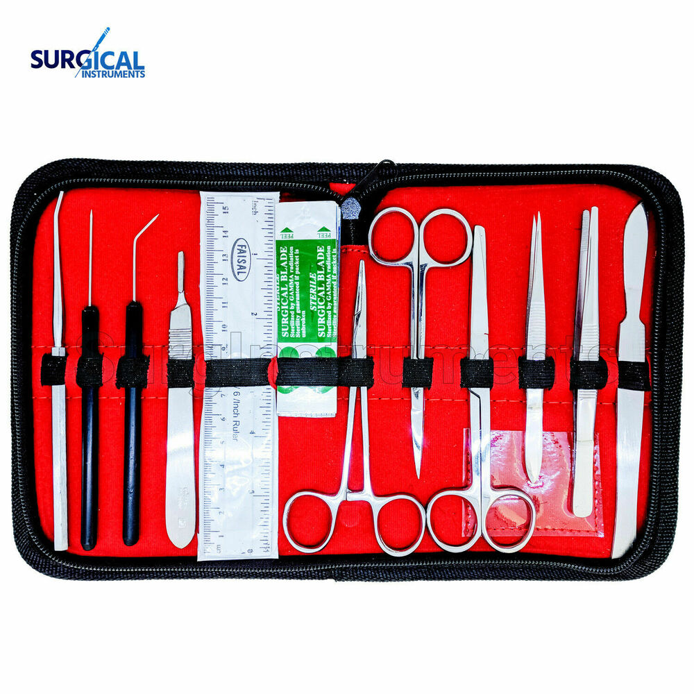 21 pcs Medical Student Anatomy Dissection Kit - Surgical Instruments ...