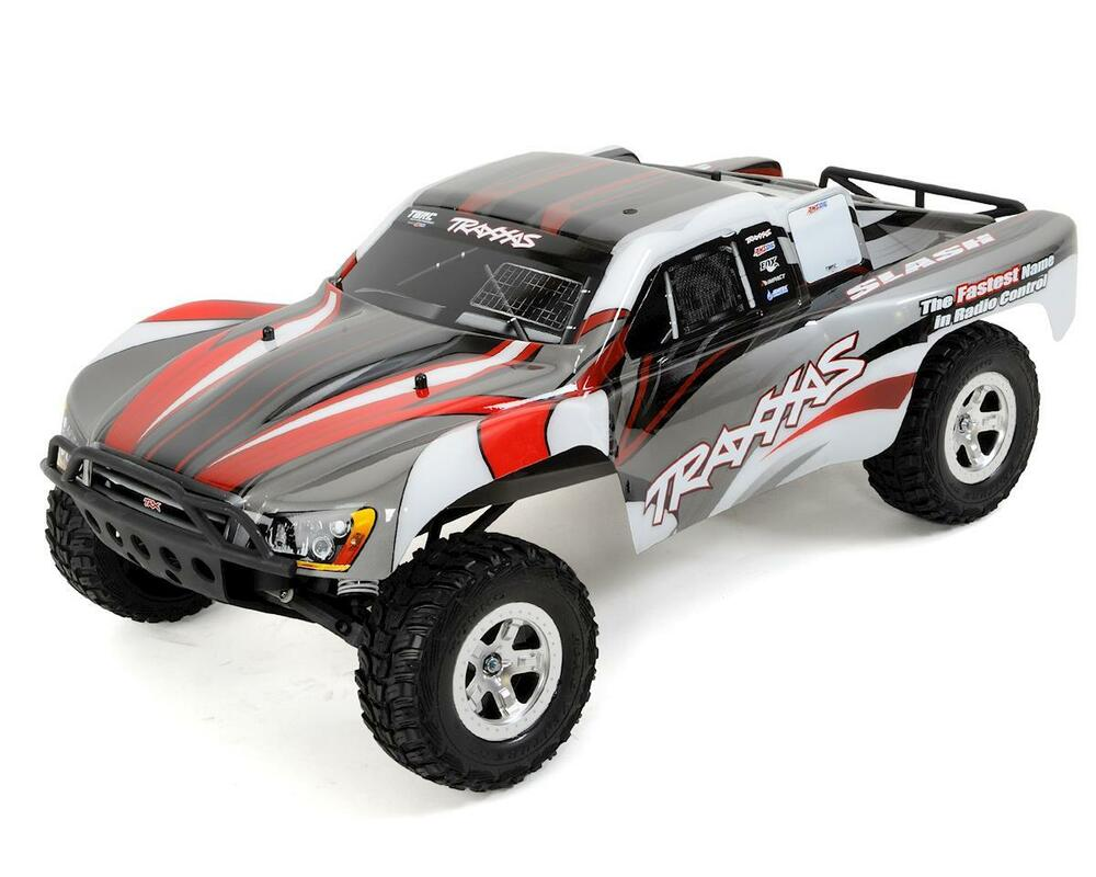 traxxas slash 1 10 rtr electric 2wd short course truck silver red ebay. Black Bedroom Furniture Sets. Home Design Ideas