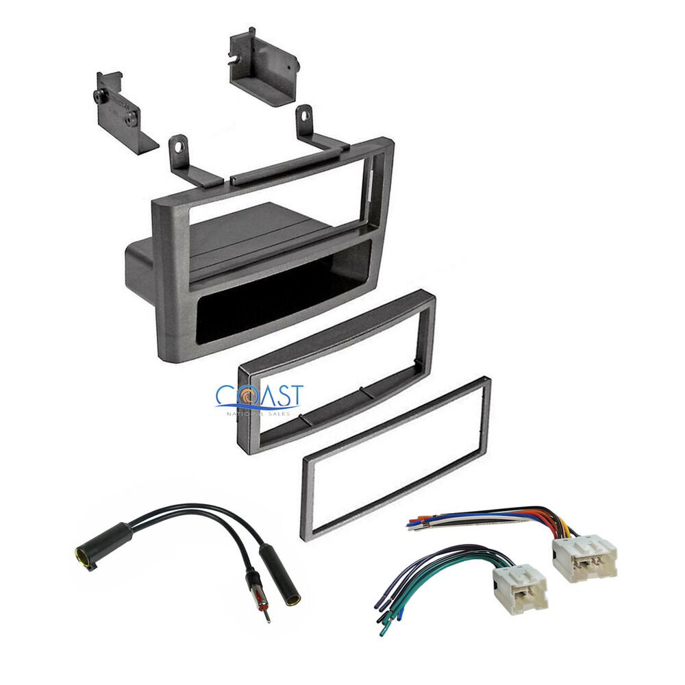 Car stereo grey dash kit wire harness antenna for