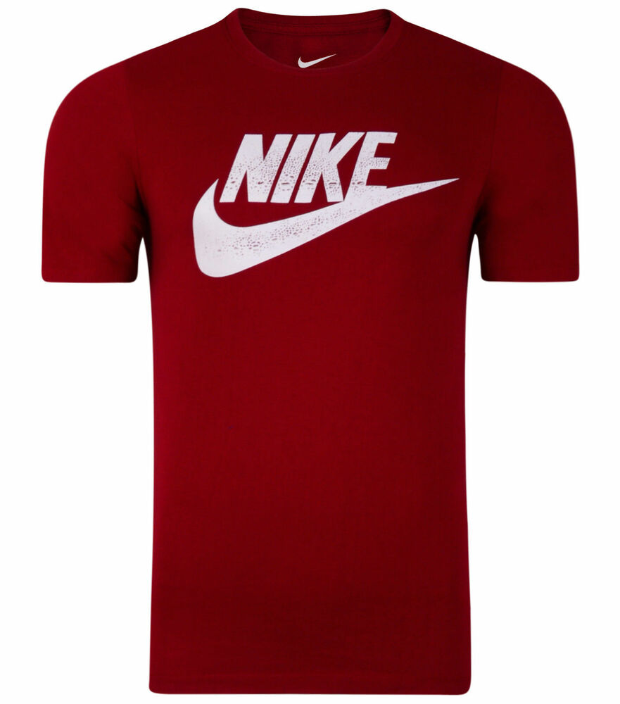 Nike new mens swoosh logo fitted t shirt top retro for Nike swoosh logo t shirt