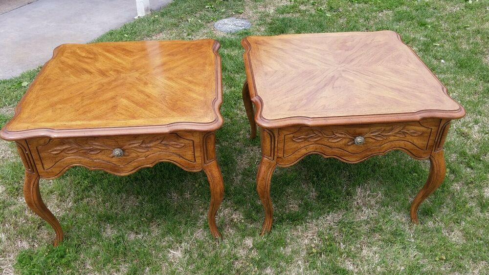 PAIR OF DREXEL HERITAGE Cabernet Country French Side End