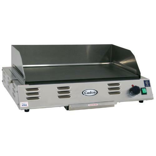 Electric Grill Griddle ~ Cadco cg v electric countertop griddle flat