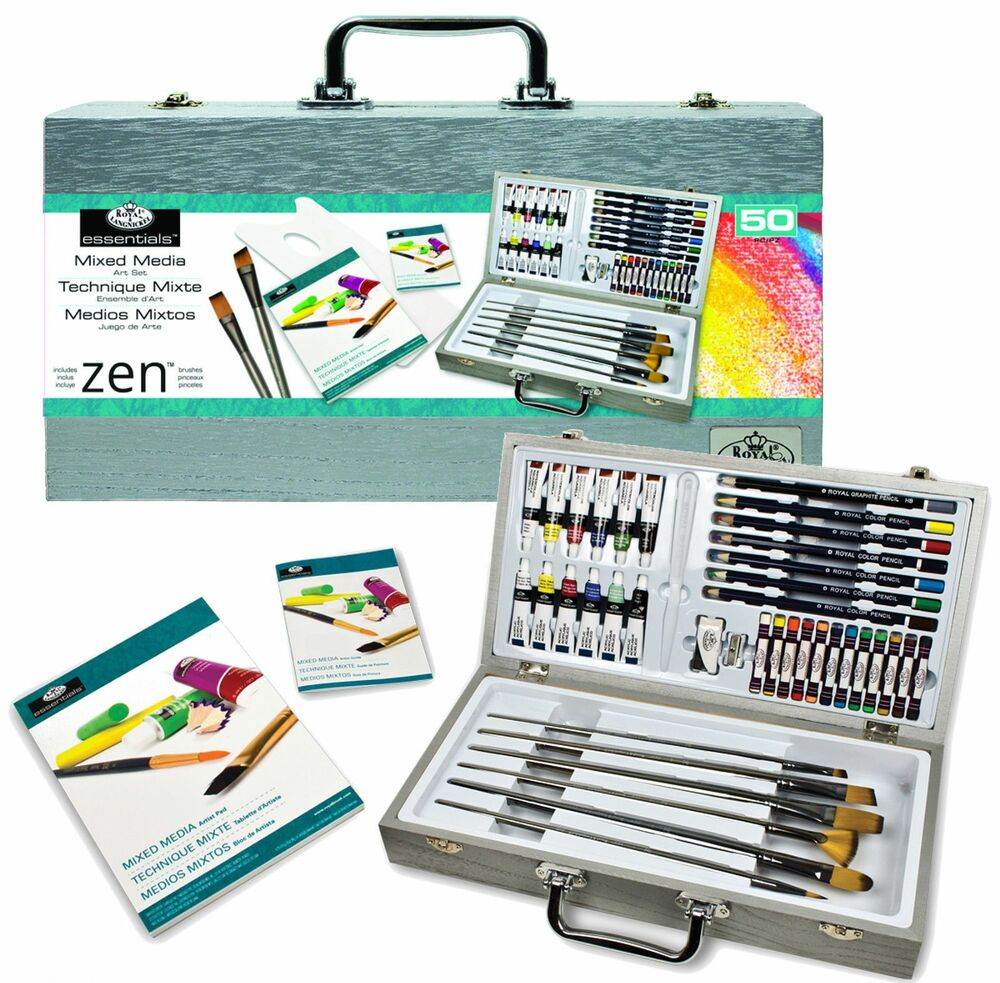 50 piece zen painting sketching artist set brushes pads pastels paints mml4301 ebay. Black Bedroom Furniture Sets. Home Design Ideas