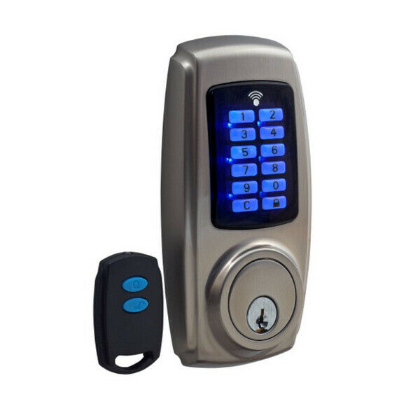 zanda electronic door lock 1317 stealth deadbolt pin code remote or key entry ebay. Black Bedroom Furniture Sets. Home Design Ideas