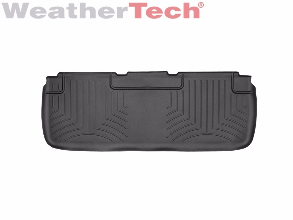 weathertech floor mats floorliner for tesla model s 2012 2017 2nd row black ebay. Black Bedroom Furniture Sets. Home Design Ideas