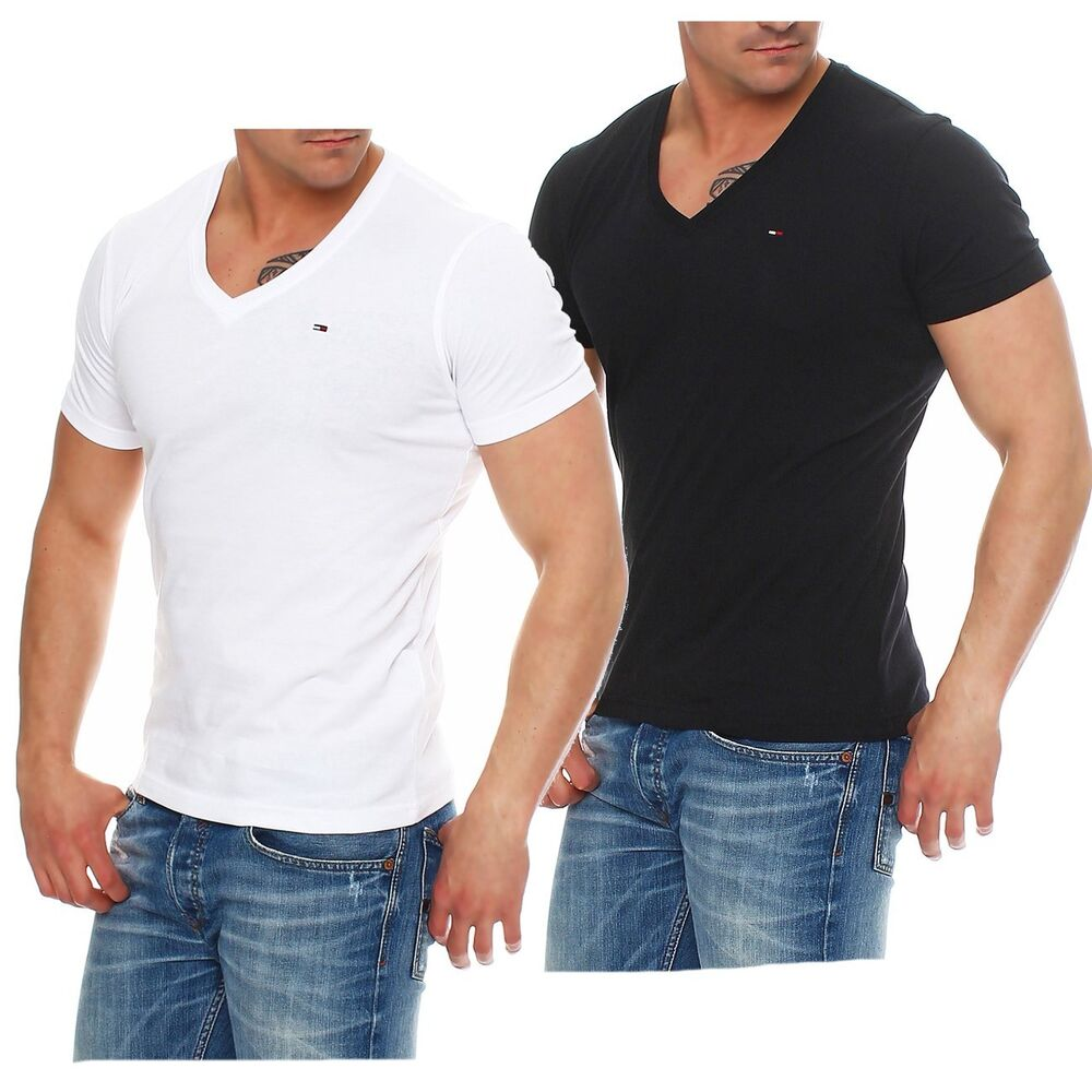 tommy hilfiger denim t shirt shirt v neck tee 1957888835 s. Black Bedroom Furniture Sets. Home Design Ideas