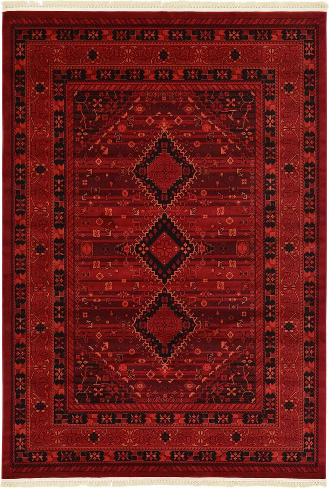 Traditional Rugs Persian Oriental Red Carpets New Bokhara