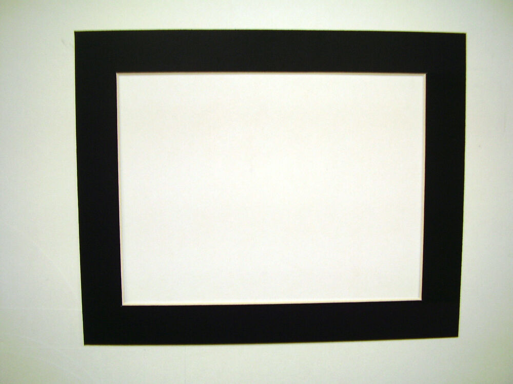 Picture Framing Single Mats 11x14 For 9x12 Art Black With